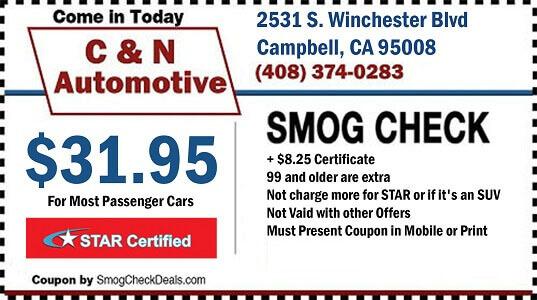 Cheap Car Mechanics Near Me >> Smog Check Near me | C & N Automotive | (408) 374-0283